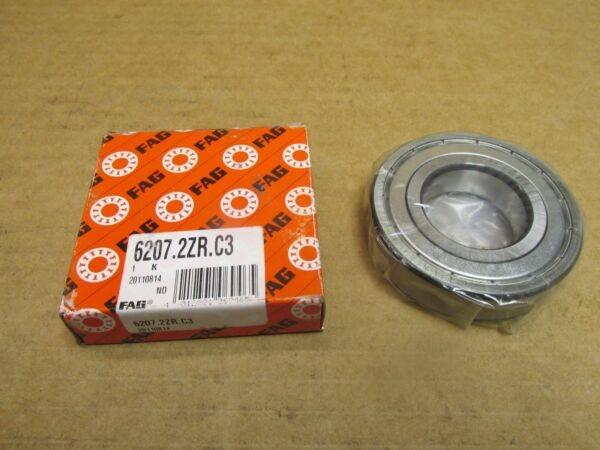 NIB FAG 62072ZRC3 BEARING METAL SEALED 6207 2ZR C3 62072RS 35x72x17 mm