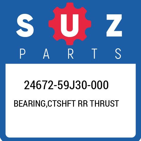 24672-59J30-000 Suzuki Bearing,ctshft rr thrust 2467259J30000, New Genuine OEM P