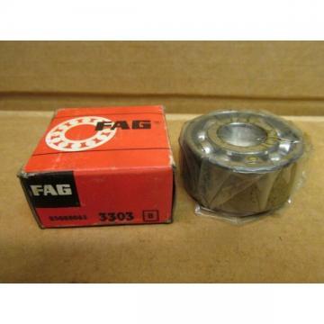 "FAG 3303 ANGULAR CONTACT BEARING 3303 17mm ID 47mm OD x 7/8"" Width GERMANY"